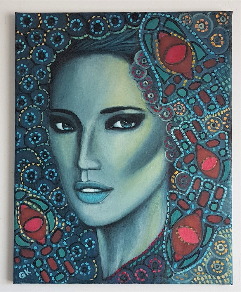 """""""Bewitched"""" 16″ x 20″ Original Oil Painting on Canvas by GK"""